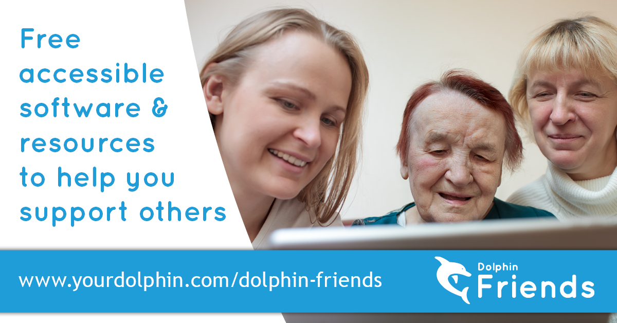 Free accessible software & resources with Dolphin Friends